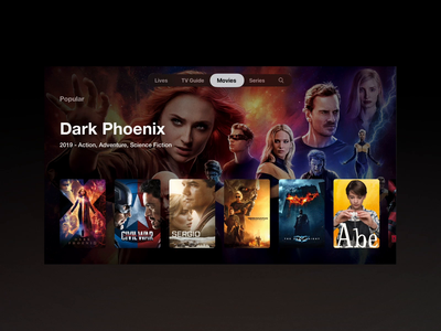 WatchIPTV - tvOS Movie app for apple tv ios appletv tvos iptv movie app movie tv tv design tv show tv app