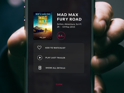 Movie & TV App - 3D Touch 3d touch tv show movie iphone ios mad max