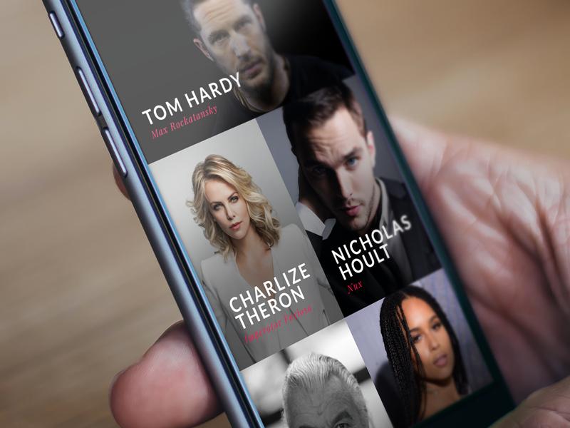 Movie & TV App - Cast casting cast tv show player movie iphone ios mad max