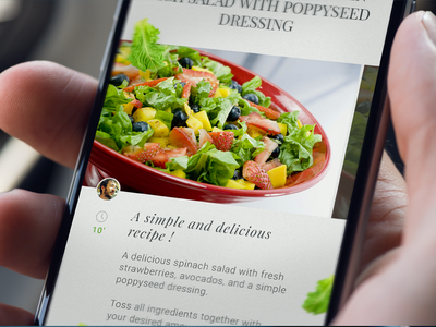 Cooking App - monthlytemplate.net mobile iphone ios psd free cooking montlytemplate