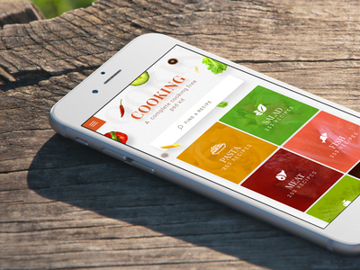 Cooking App - monthlytemplate.net free psd monthly template ios nav menu home mobile iphone app cooking