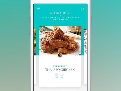 Cooking App - weekly menu - monthlytemplate.net nav monthly template mobile iphone ios weekly menu menu free psd cooking app