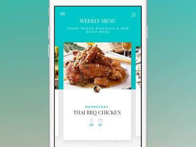 Cooking App - weekly menu - monthlytemplate.net nav monthly template mobile iphone ios weekly menu menu free psd cooking app