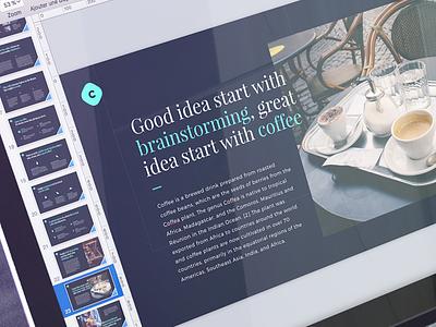 Coffee free template template free monthlytemplate coffee website design presentation keynote