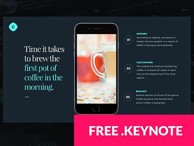 Coffee FREE Keynote template free template template free monthlytemplate coffee website design presentation keynote