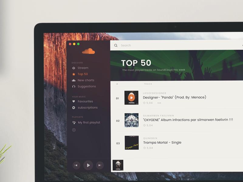 Soundcloud App Template template music app mac soundcloud