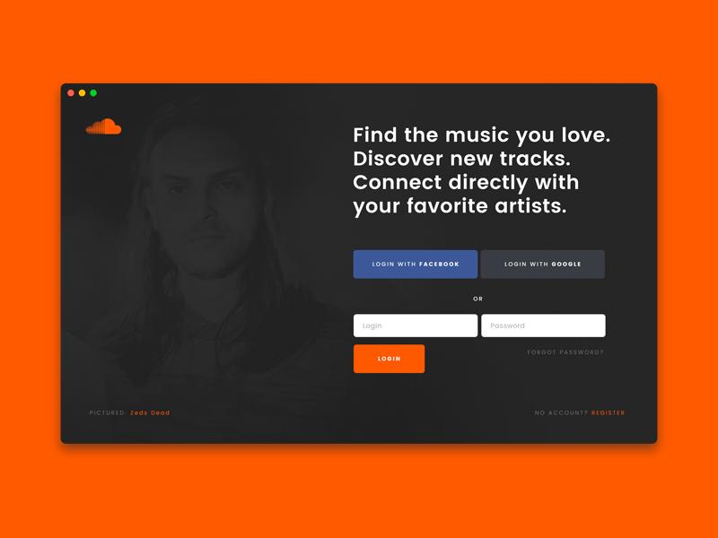 Soundcloud App Template template soundcloud music mac app