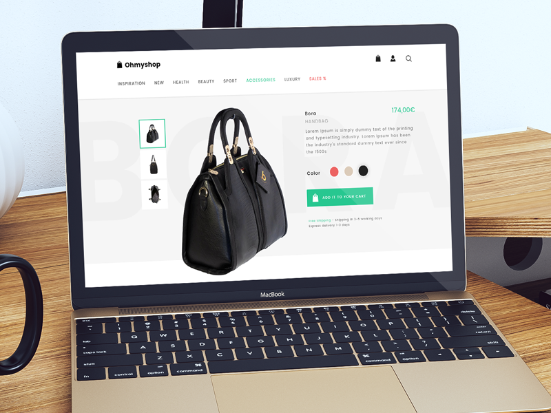 OhMyshop free template free psd responsive template design shop web