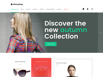 OhMyshop web template shop responsive psd free template free design
