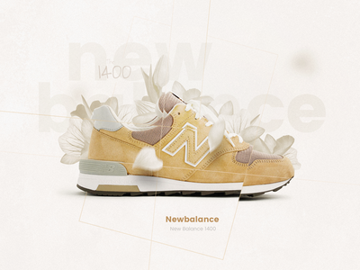 broken shoes photoshop design art direction new balance shoes