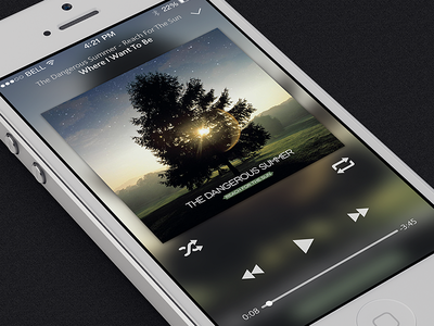 iOS 7 Style Music Player ios7 music player rock blur gesture