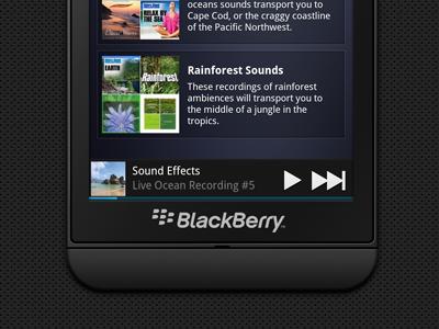 Blackberry 10 Mockup blackberry phone songza device bb10 music rim
