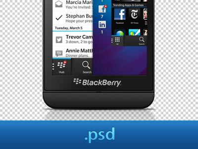 Blackberry Z10 PSD blackberry phone psd device z10 shapes layers photoshop
