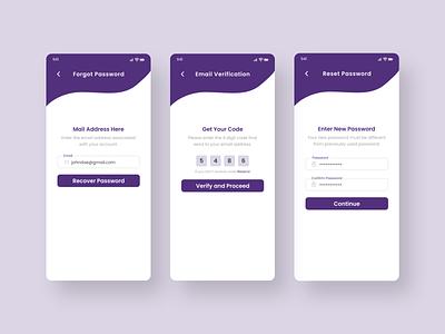Forgot Password Screen uiux trendy minimal design app forget otp code change password email verification email reset reset password password password reset forgot
