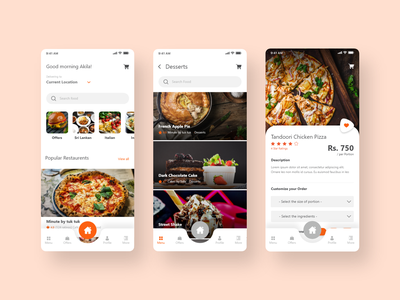 Food Delivery App clean best branding uiux trendy minimal design app fast food online food food app online delivery app food delivery website food delivery service food delivery food delivery application