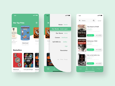 Book Selling App clean best uiux trendy minimal design app online book online book store branding book sale book cover book app