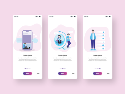 Social Media App Onboarding clean best branding uiux trendy minimal design app social network social media design follow tranding feed media social