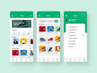 Ecommerce App best branding uiux trendy minimal design app product page ecommerce shop product app online store cloth ecommerce design ecommerce app design ecommerce