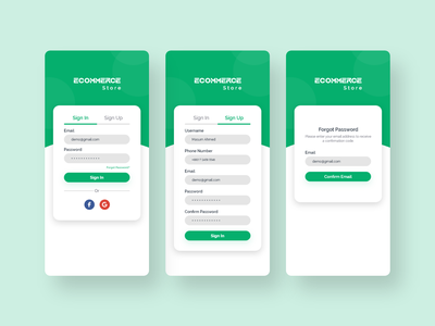 Ecommerce App Log In Screen uiux trendy minimal design app sign in signup shop shopping product cart forgot password shopping app log in log in screen log in page ecommerce app design