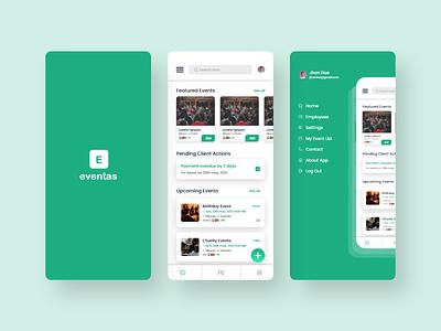 Event Management App ui branding best clean app design minimal uiux trendy event booking event app