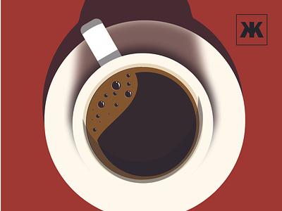 COFFEE flat minimal vector illustration design
