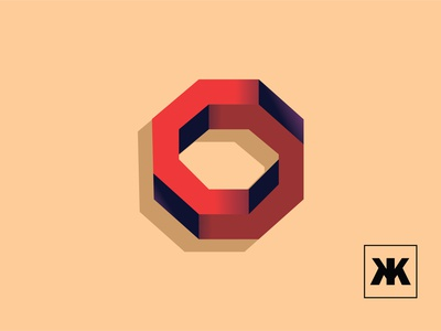 Penta O icon branding illustrator typography art minimal flat vector illustration design