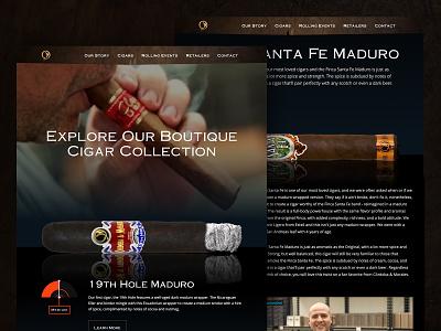 Córdoba & Morales Website Design branding sketch development webflow animation video dark tobacco website designer website design cigar