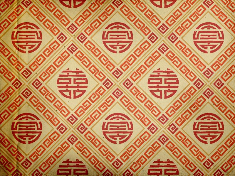 Tealet - tea farm02 seamless pattern tea pattern red seamless pattern natural hand drawn handcrafted artisan geometrical asian roughened