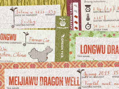 Tealet - tin circumference labels - detail