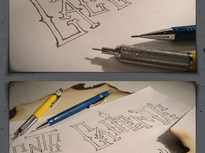Caliente lettering - 02 orange red fire hand drawn typography type lettering custom burnt burned hot caliente