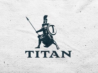 Sports management logo sports mascot illustration logo titan spartan roman strong typography type custom type