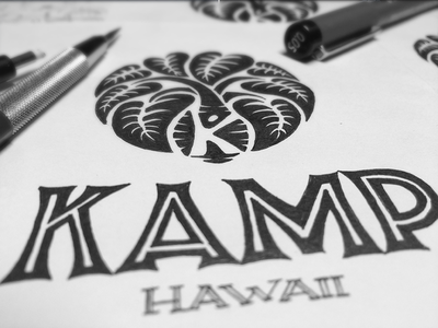 Youth nonprofit logo 01 hawaii youth nonprofit emotional natural taro kalo organic leaves lettering sketch