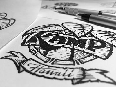 Youth nonprofit logo 02 sketch lettering leaves organic kalo taro natural emotional nonprofit youth hawaii