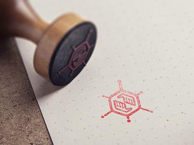 atomicvibe stamp science hands rubber stamp stamp vintage retro logo atomicvibe