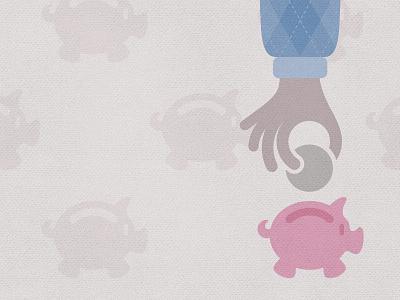 Inspirato - smart, unique, better value argyle hand piggy bank pig flat simple illustration business business travel american express inspirato