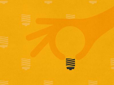 Inspirato - smart ideas inspirato american express business travel business illustration simple flat yellow lightbulb hand