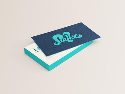 Entrepreneur biz card lettering business card logo branding script waves surfing funky retro movement curves