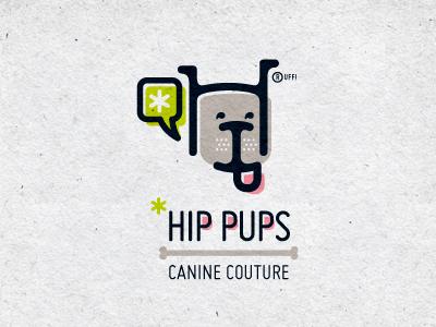 Hip Pups logo
