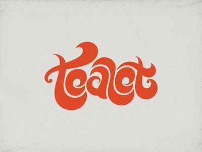 WIP - Tealet logo vectors 01 tea hawaii aloha artisan handcrafted hand drawn tattoo tribal type typography letterforms hand lettering black red colorful curves