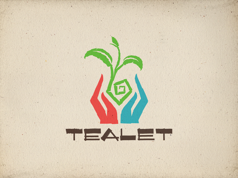 WIP - Tealet logo vectors 02.5 colorful green blue red brush strokes angles black drawing hand lettering letterforms typography type hand drawn handcrafted artisan aloha hawaii tea hands roughened rough