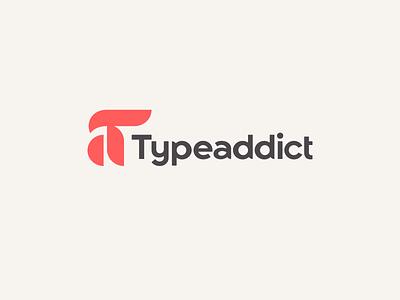 TypeAddict a ampersand monogram texture cream black gray red pattern circle dots geometric modular logotype logo custom type typography type
