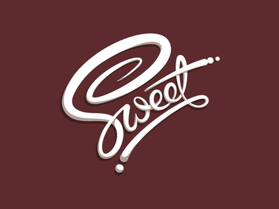 You're so... sticker brown hand lettering cursive frosting cake sugar sweet custom lettering lettering logo bakery icing dessert sweets