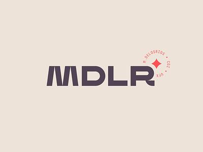 MDLR 04 modern tan water badge star cgi modernist magic logotype logo extended sans wide geometric futuristic futurist monospace red diamond custom type black