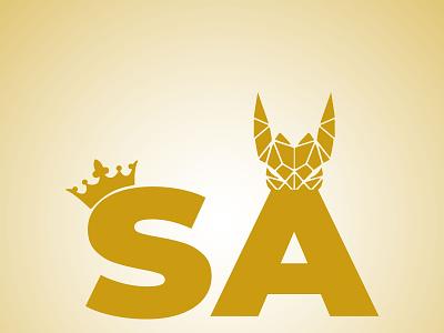 SA Logo fox king sa logo sa illustrator design logo vector illustration branding