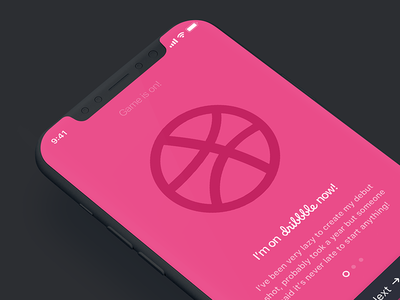 Game is on! first shot iphonex ios11 thankyou dribbble thanks hello debut