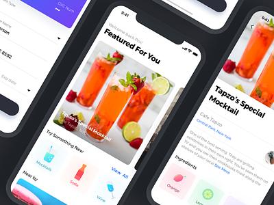 Restaurant App - WIP featured icons design app mobile restaurent iphonex ios11 ui ux
