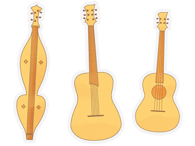 Instrumental Illustration ukulele guitar dulcimer illustration