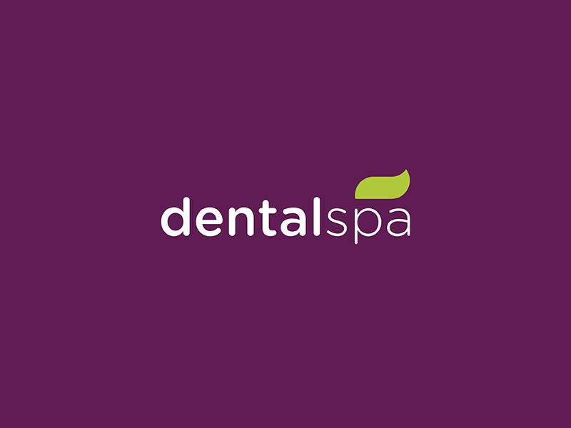 Dental Spa logo branding dental spa leaf toothpaste simple colorful minimal