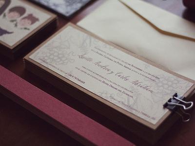 Wedding Invitations printed paper handmade invitation wedding