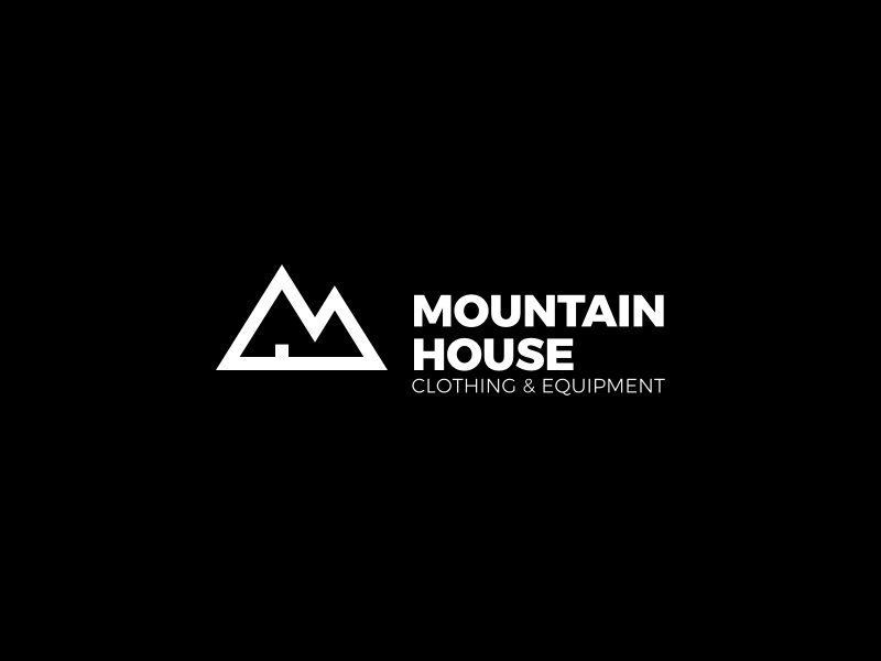 Mountain House minimalist simple branding icon logo patagonia outdoor equipment clothing house mountain